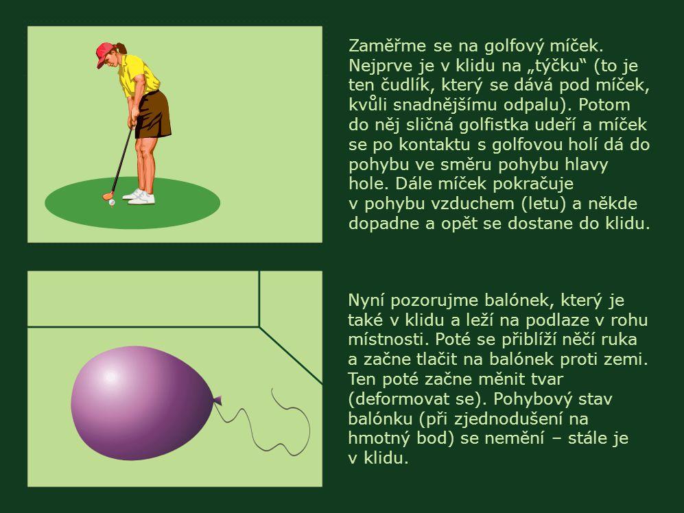 Zaměřme se na golfový míček.