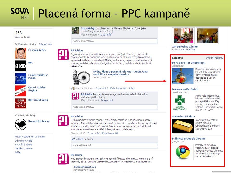 Placená forma – PPC kampaně