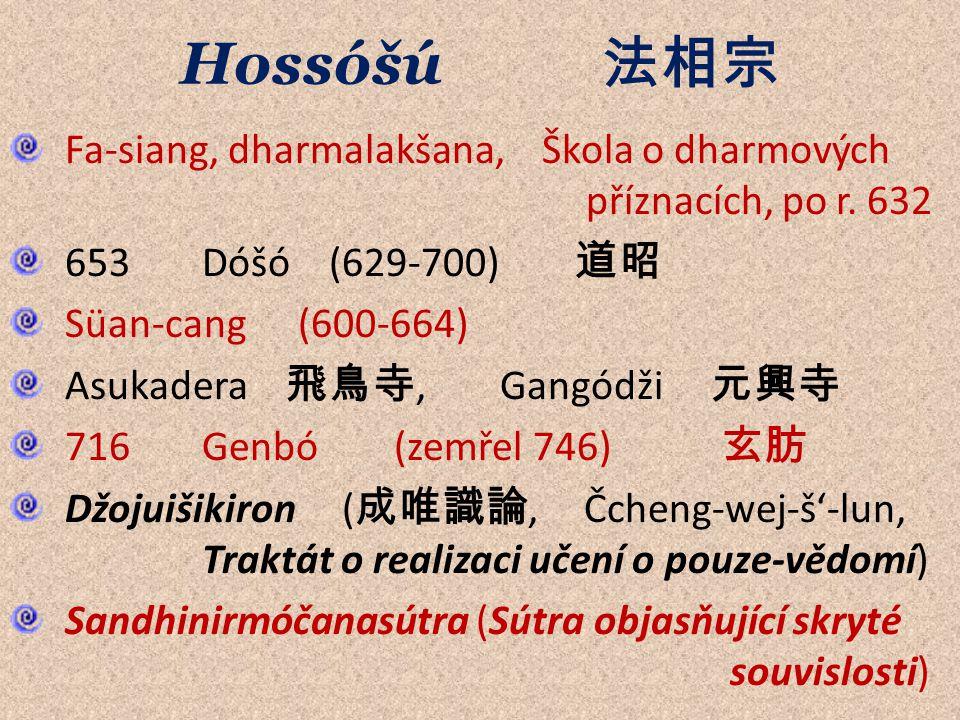 Hossóšú 法相宗 Fa-siang, dharmalakšana, Škola o dharmových příznacích, po r.