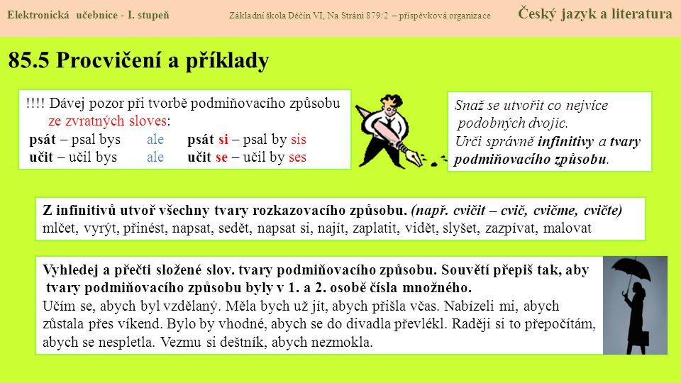 85.5 Procvičení a příklady Elektronická učebnice - I.