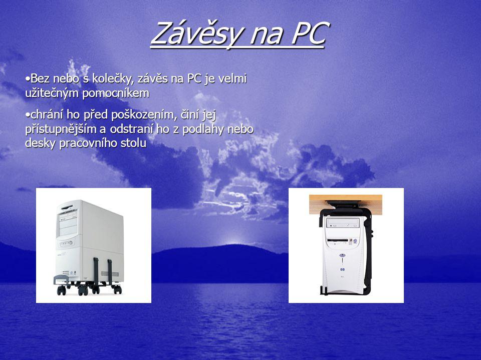 Závěsy na PC BezBez nebo s kolečky, závěs na PC je velmi užitečným pomocníkem chráníchrání ho před poškozením, činí jej přístupnějším a odstraní ho z