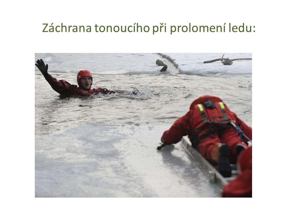 Záchrana tonoucího při prolomení ledu: