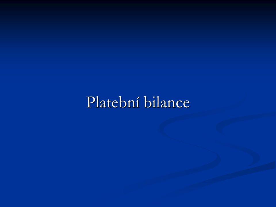 Platební bilance zachycuje platební transakce naší ekonomiky se zahraničím v daném roce.