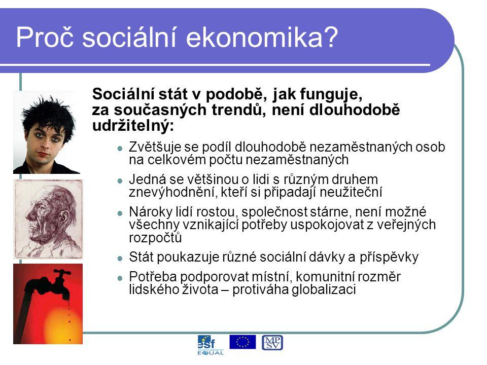 Proč sociální ekonomika.