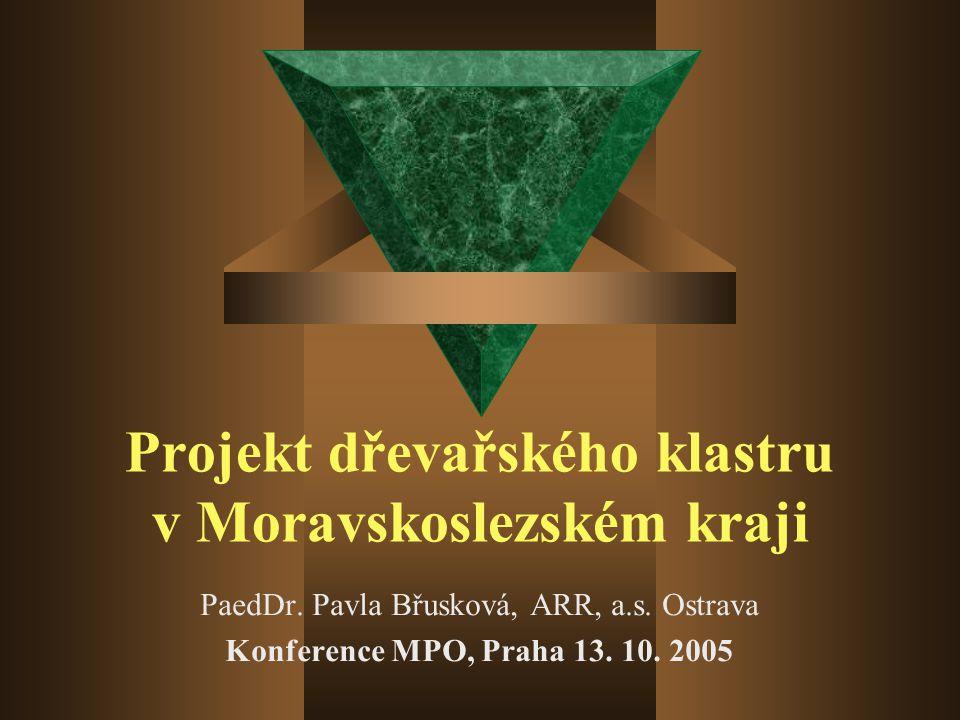 Projekt dřevařského klastru v Moravskoslezském kraji PaedDr.