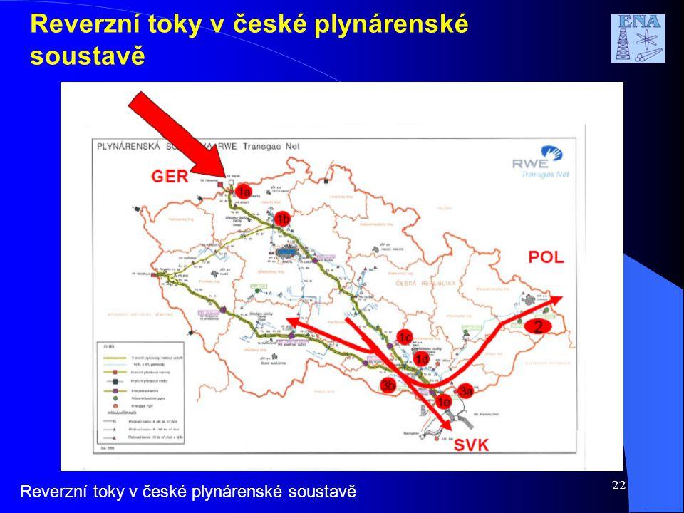 22 Reverzní toky v české plynárenské soustavě
