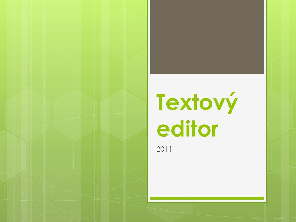 Textový editor 2011