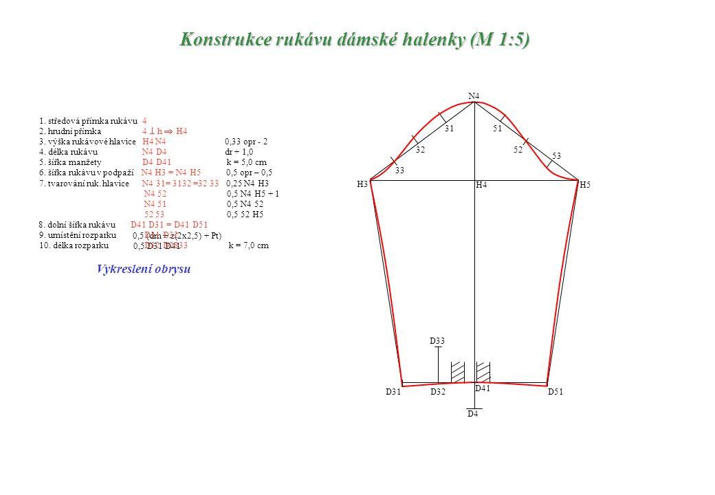 1.vytvoření bodu H53H53H4 4,5cm 2.