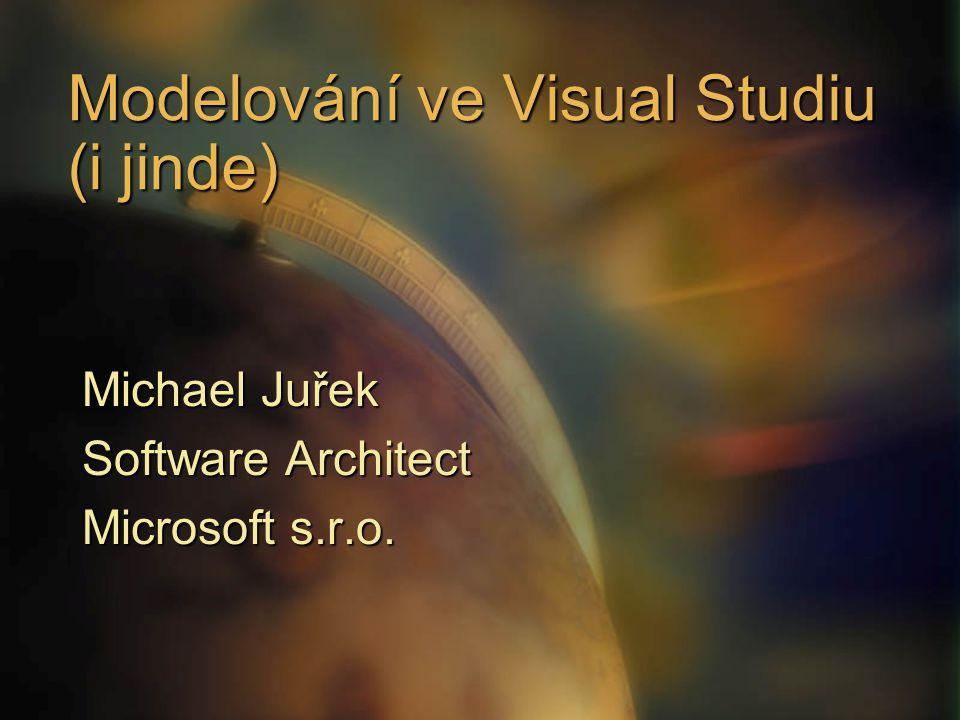 Modelování ve Visual Studiu (i jinde) Michael Juřek Software Architect Microsoft s.r.o.