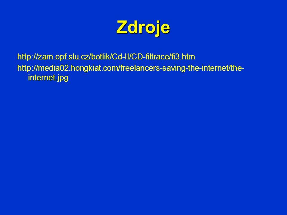 Zdroje http://zam.opf.slu.cz/botlik/Cd-II/CD-filtrace/fi3.htm http://media02.hongkiat.com/freelancers-saving-the-internet/the- internet.jpg