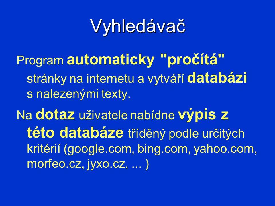 Vyhledávač Program automaticky