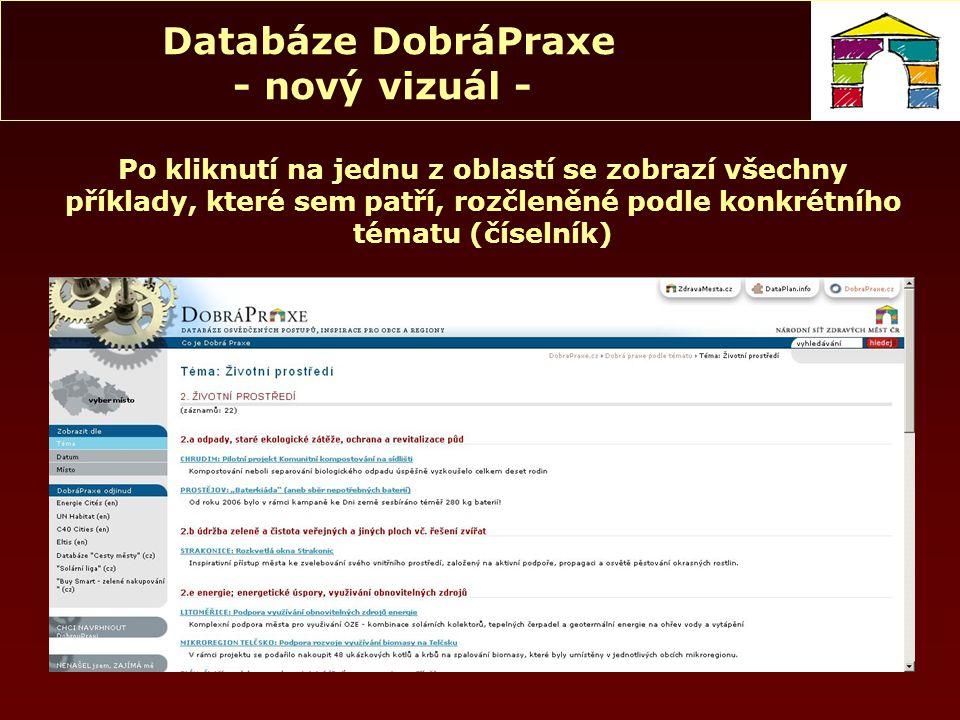 """Databáze DobráPraxe - nový vizuál - NENAŠEL JSEM, ZAJÍMÁ MĚ Vyplnit všechna políčka a """"odeslat Námět bude odeslán emailem do Kanceláře NSZM"""