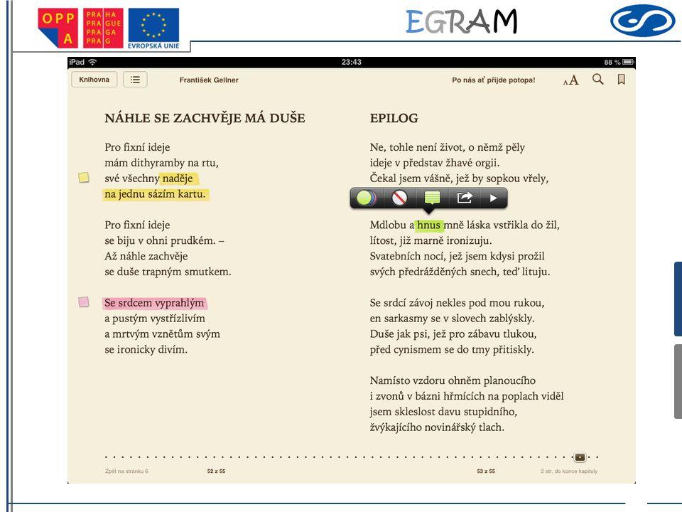 EGRAMEGRAM Práce s básněmi sbírky 1.