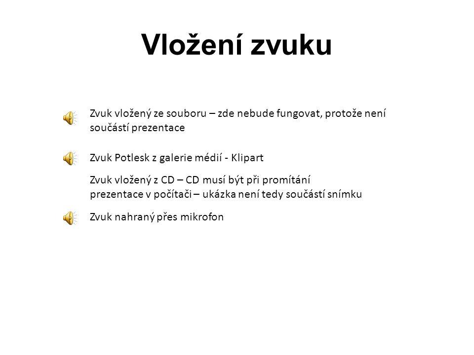 Vložení videa Místo tohoto rámečku si vyzkoušejte podle popsaného návodu vložení videa. Použijte některý z kompatibilních formátů – avi, mpg/mpeg, ASF