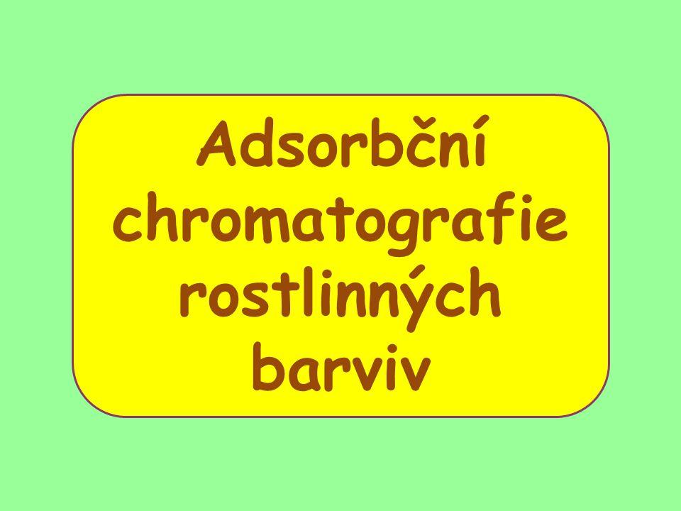 Adsorbční chromatografie rostlinných barviv