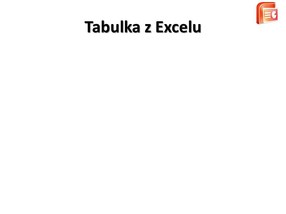 Tabulka z Excelu