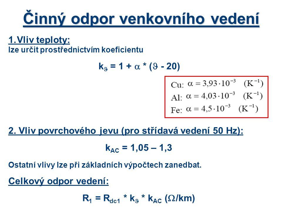 2.Výpočet maximálního úbytku napětí Podle napájecích proudů rozdělíme vedení na dvě části, 1.