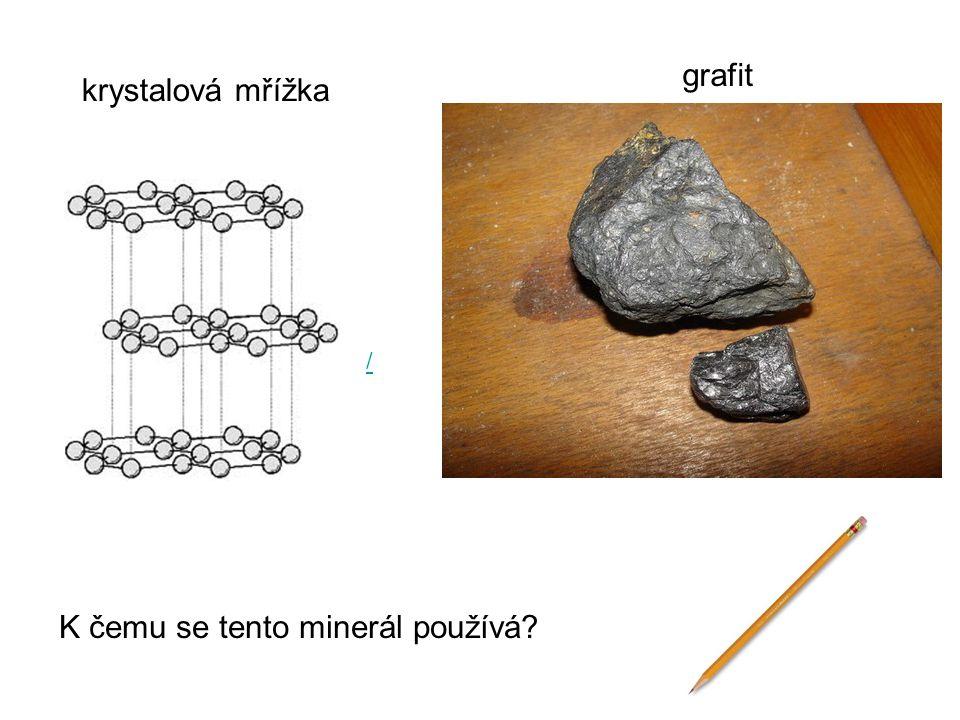 krystalová mřížka grafit K čemu se tento minerál používá? /