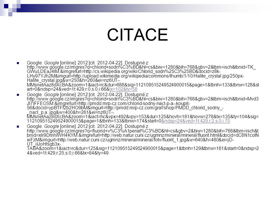 CITACE Google. Google [online]. 2012 [cit. 2012-04-22].