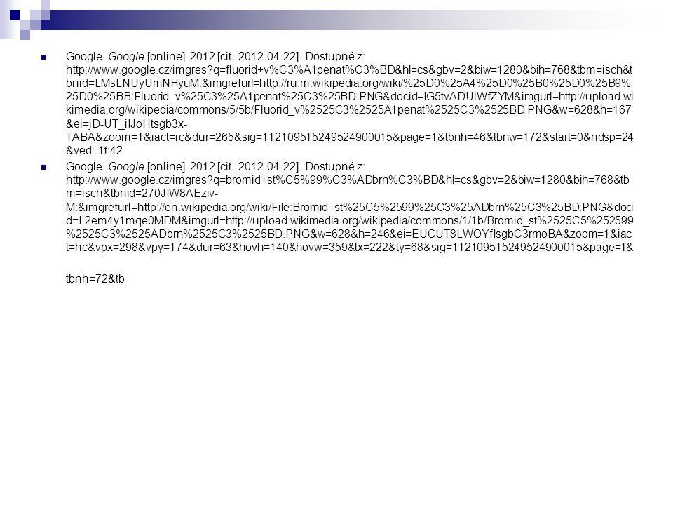 Google. Google [online]. 2012 [cit. 2012-04-22].