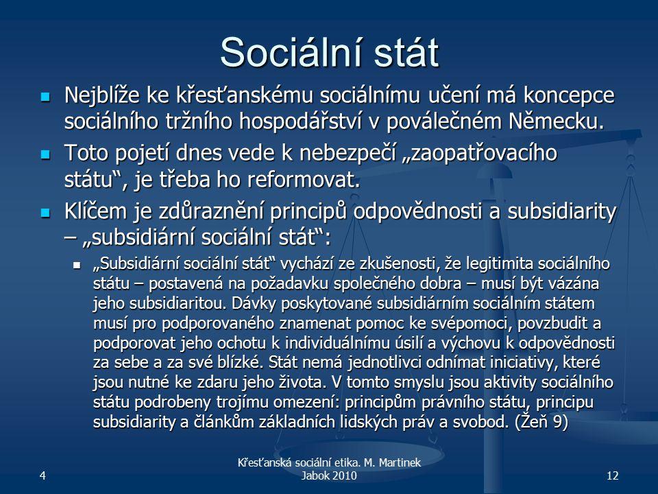Sociální stát Nejblíže ke křesťanskému sociálnímu učení má koncepce sociálního tržního hospodářství v poválečném Německu.