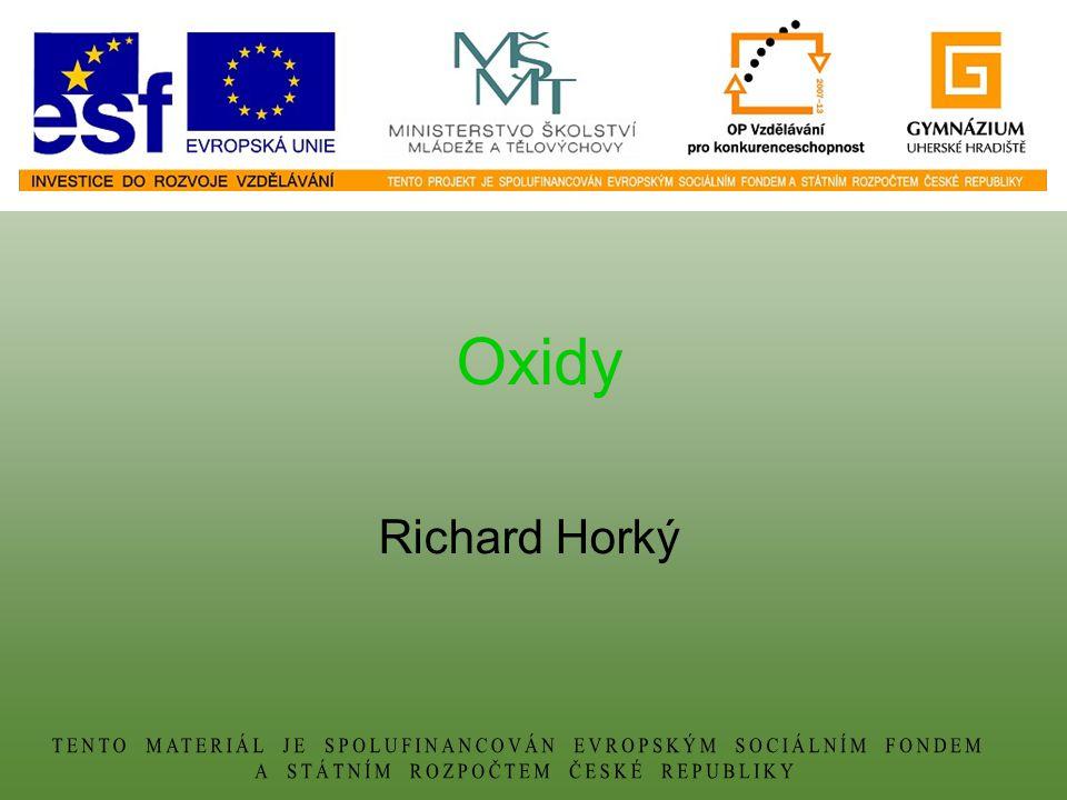 Oxidy Richard Horký
