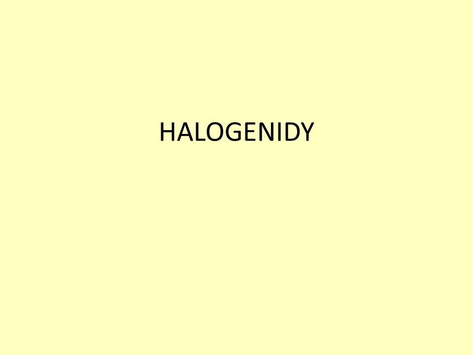 HALOGENIDY