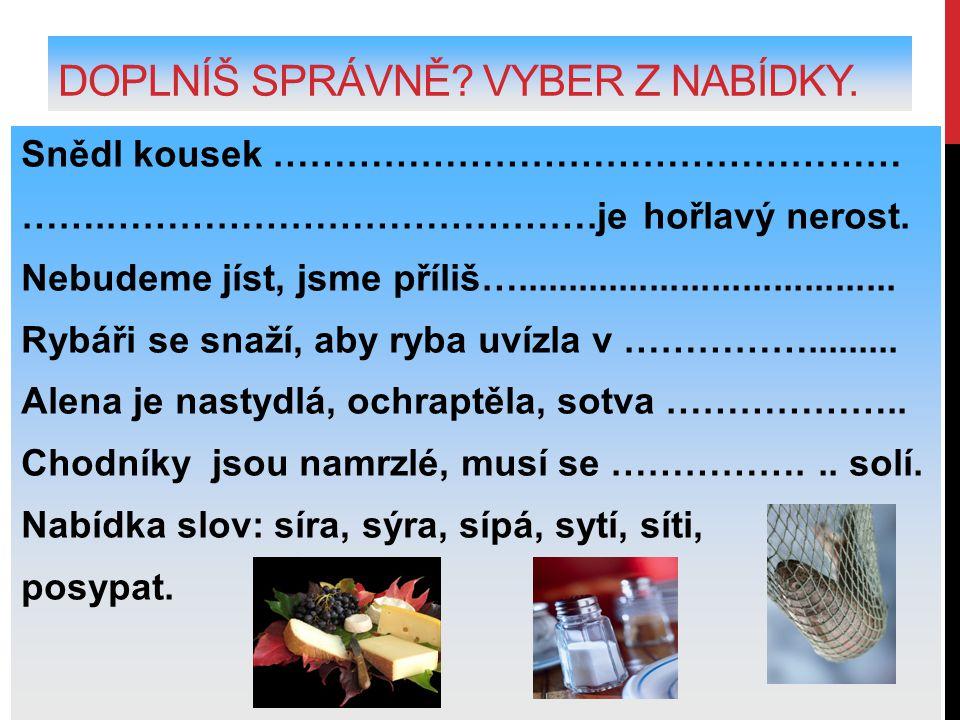 POUŽITÉ ZDROJE.MÜHLHAUSEROVÁ, Hana, et al. Český jazyk 4 učebnice pro 4.