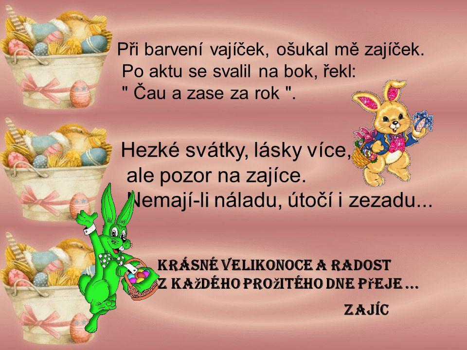 Velikonoční přání.