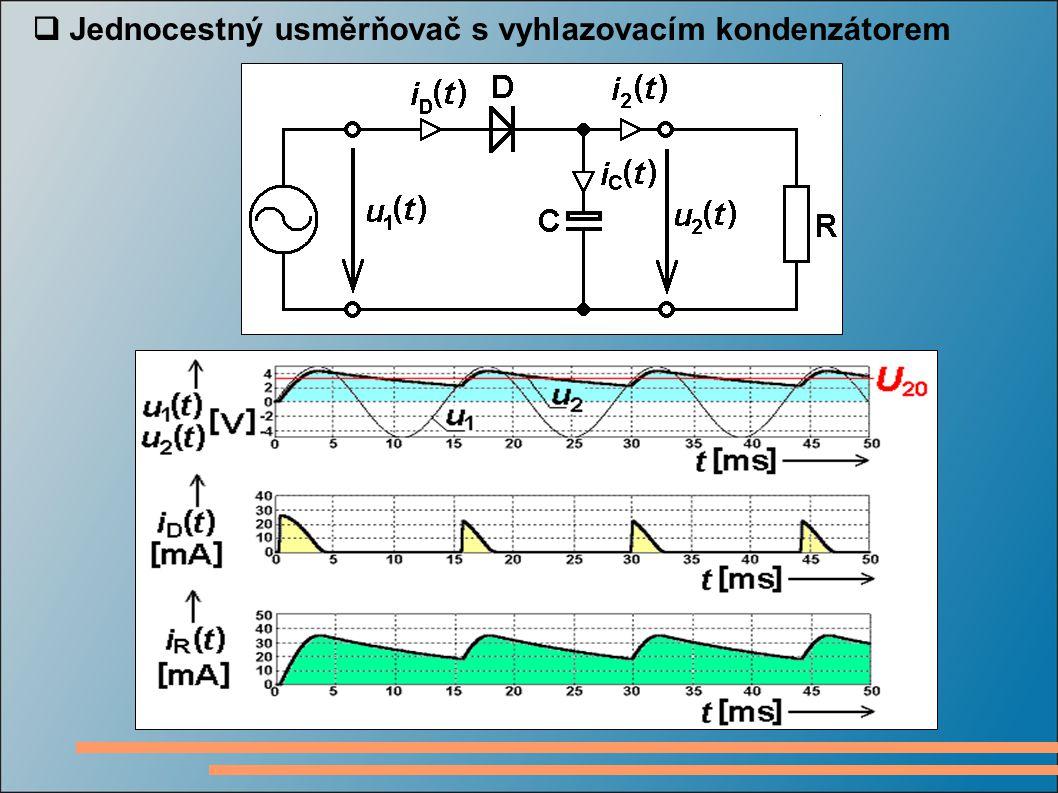  Jednocestný usměrňovač s vyhlazovacím kondenzátorem