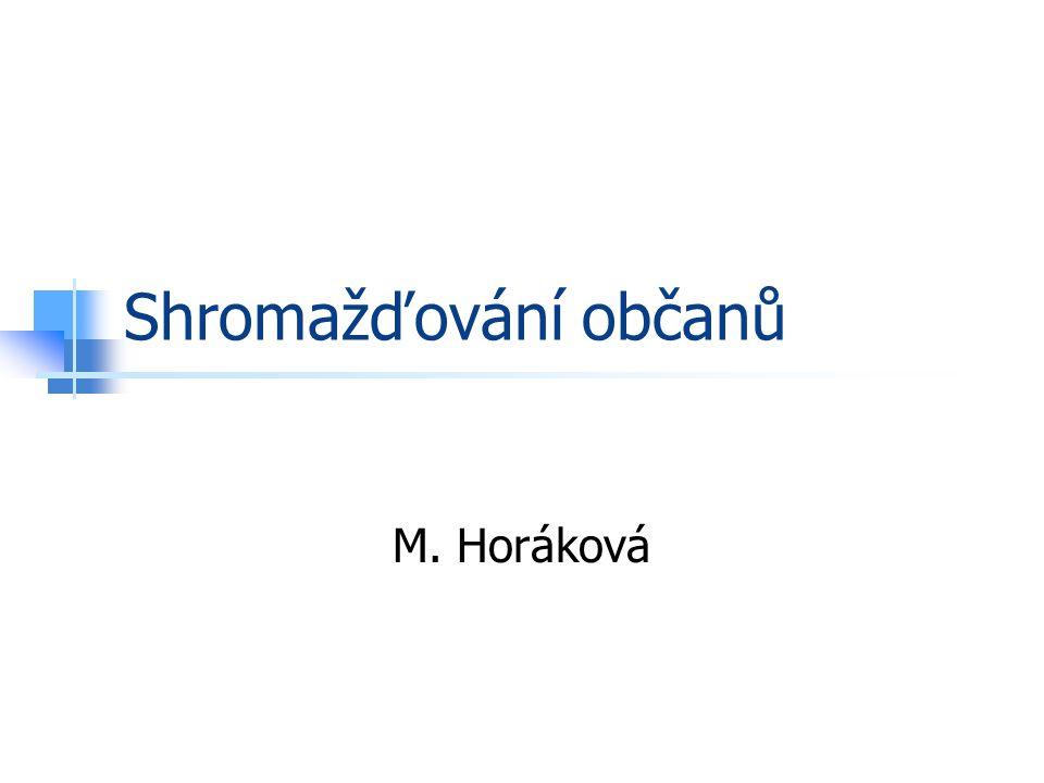 Shromažďování občanů M. Horáková