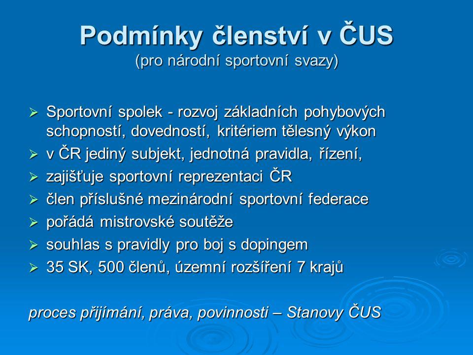 ČUS kompetence valné hromady kompetence Výkonného výboru kompetence Výkonného výboru Stanovy ČSTV – www.cuscz.cz www.cuscz.cz