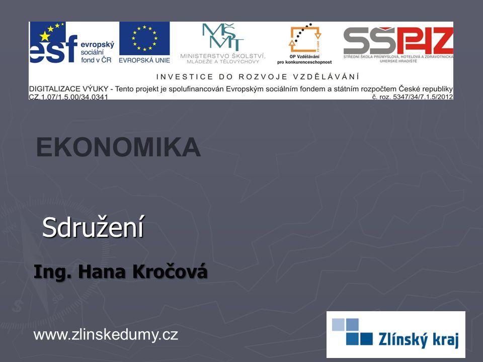 Sdružení Ing. Hana Kročová EKONOMIKA www.zlinskedumy.cz