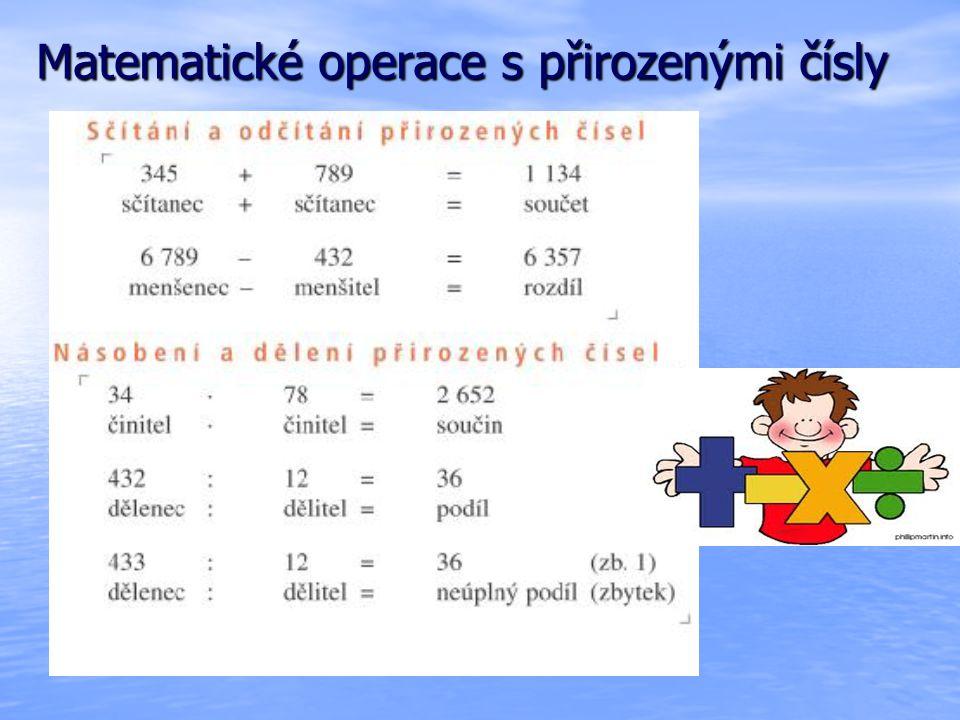Sčítání přirozených čísel - příklady 2548 726419 683 637 576 4 519 295 923 6 711 923 6 711 88 88 Zvol vhodné pořadí sčítanců a vypočítej zpaměti.