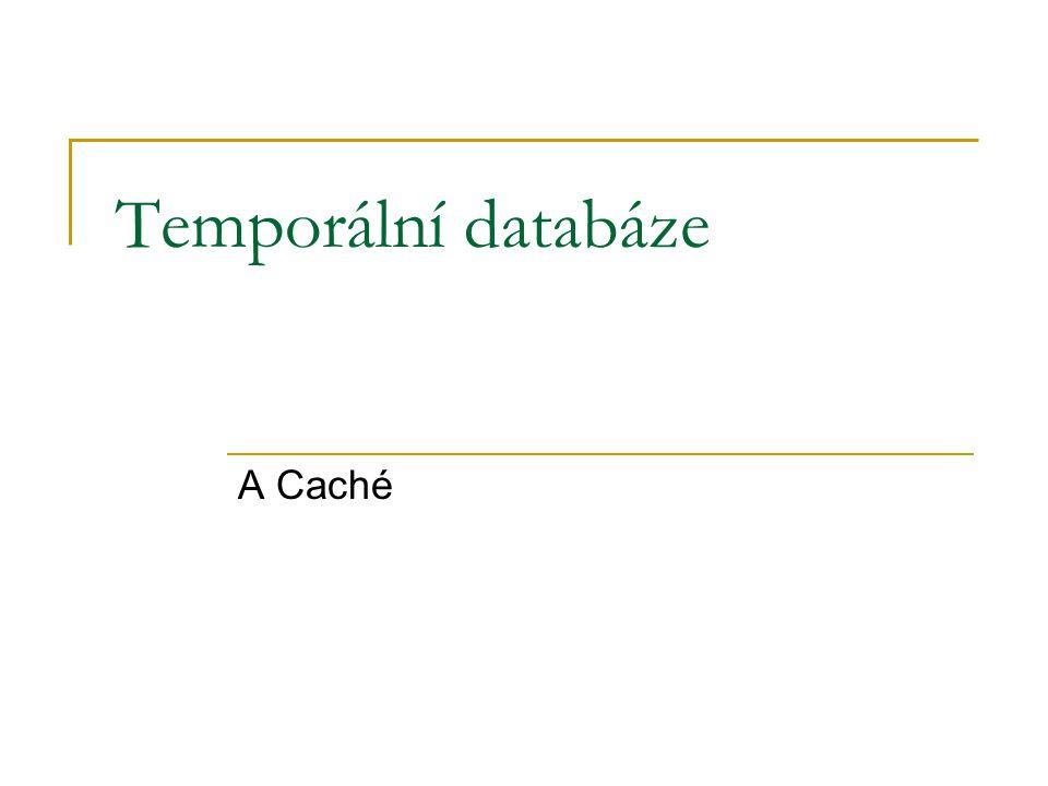 Temporální databáze A Caché
