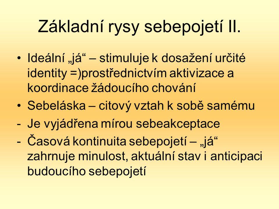 Základní rysy sebepojetí II.
