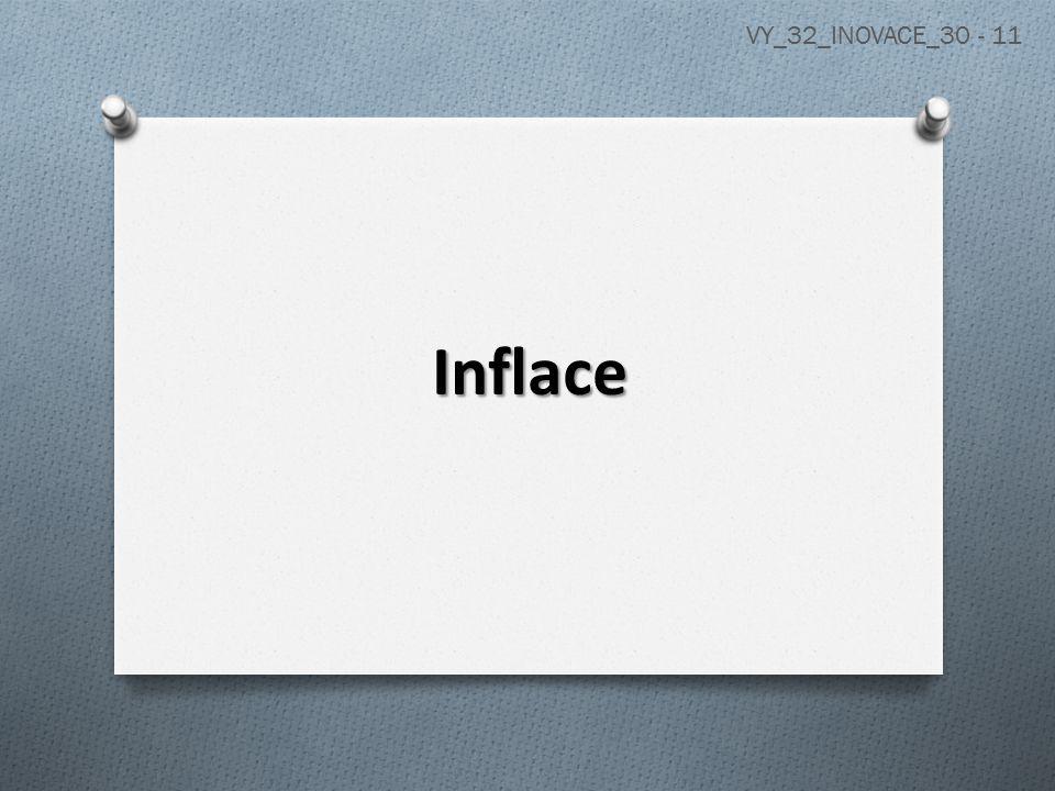 Inflace = všeobecný růst cen, tedy růst tzv.