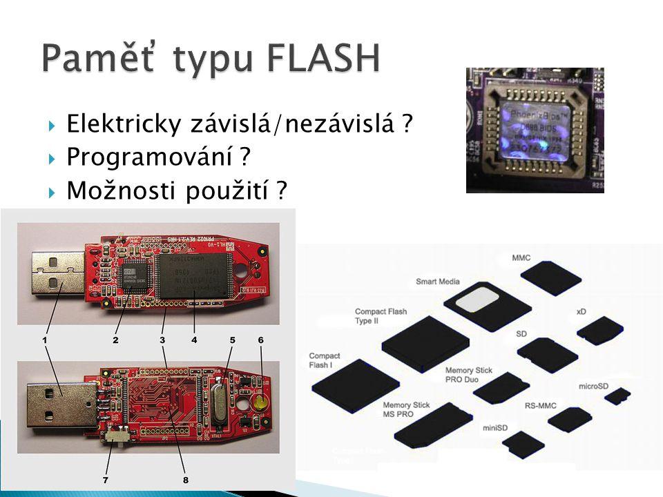  Elektricky závislá/nezávislá  Programování  Možnosti použití