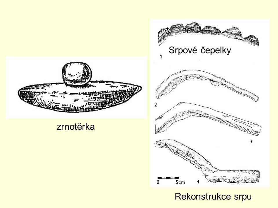 zrnotěrka Srpové čepelky Rekonstrukce srpu