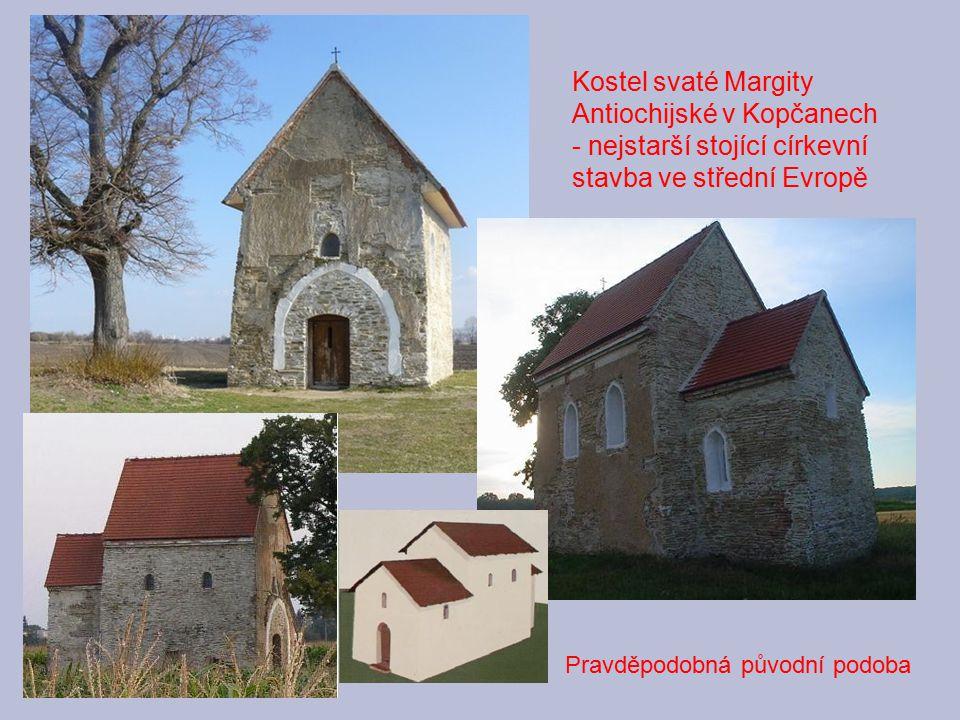 Kostel svaté Margity Antiochijské v Kopčanech - nejstarší stojící církevní stavba ve střední Evropě Pravděpodobná původní podoba