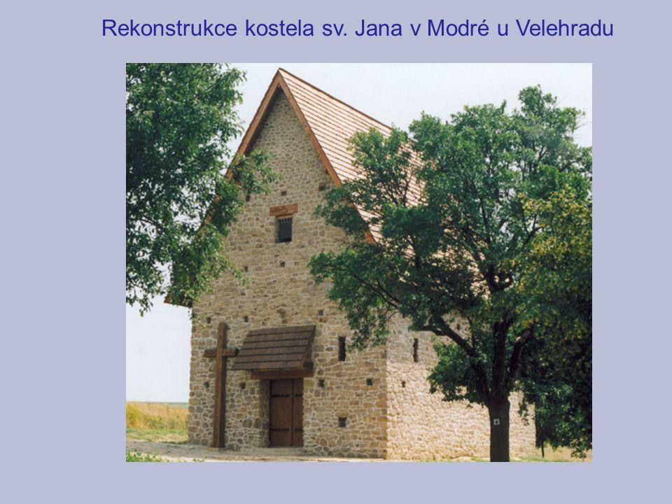 Rekonstrukce kostela sv. Jana v Modré u Velehradu