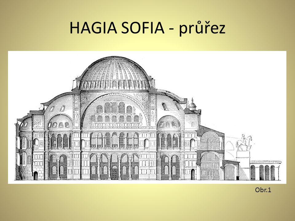 HAGIA SOFIA - průřez Obr.1