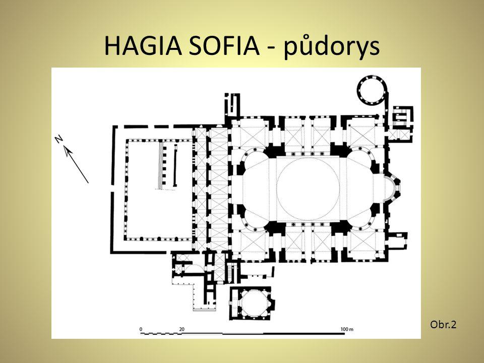 HAGIA SOFIA - půdorys Obr.2