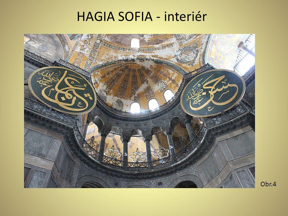 HAGIA SOFIA - interiér Obr.4
