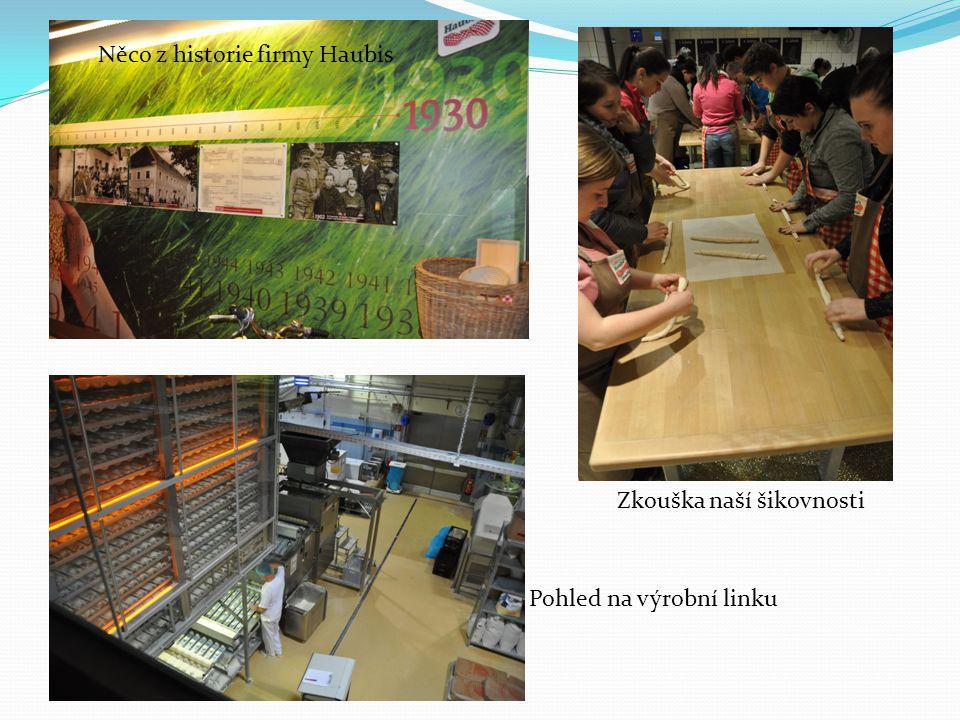 Zkouška naší šikovnosti Něco z historie firmy Haubis Pohled na výrobní linku