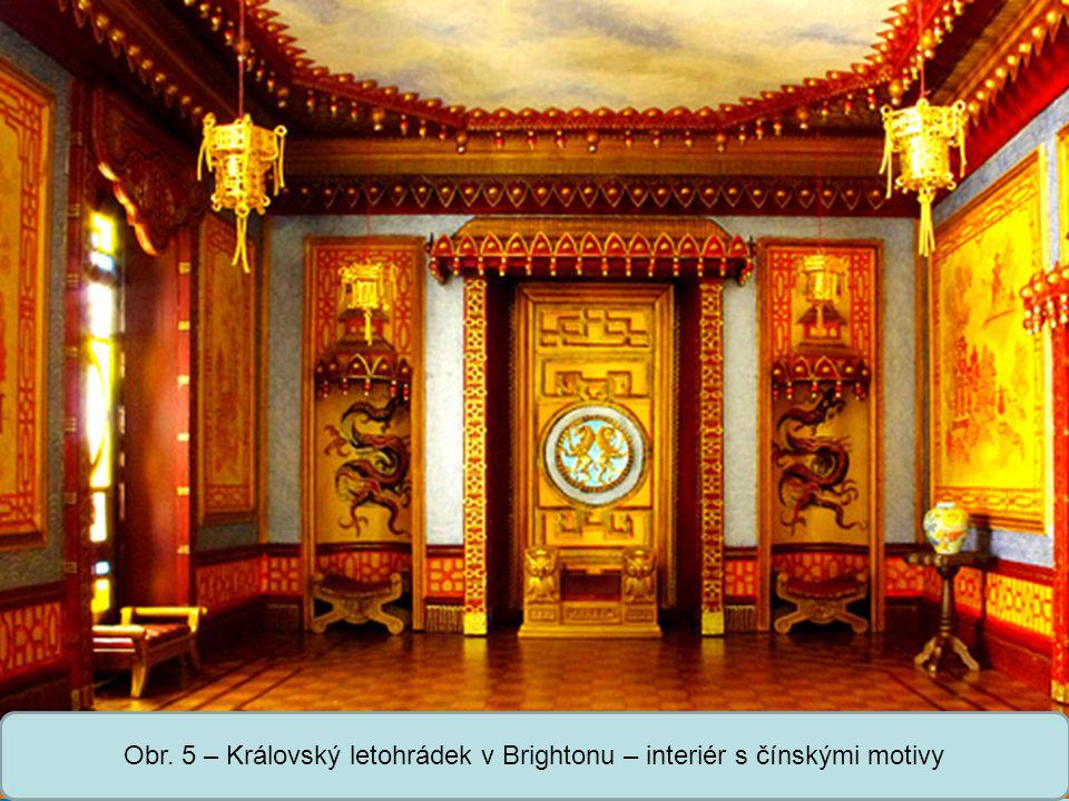 Střední škola Oselce Obr. 5 – Královský letohrádek v Brightonu – interiér s čínskými motivy