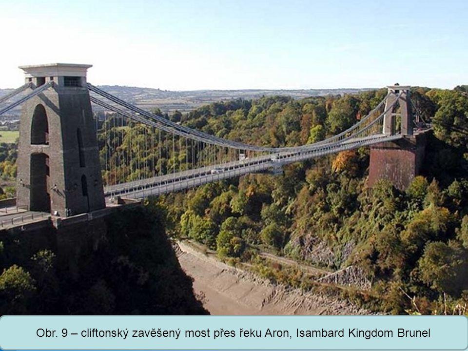 Střední škola Oselce Obr. 9 – cliftonský zavěšený most přes řeku Aron, Isambard Kingdom Brunel