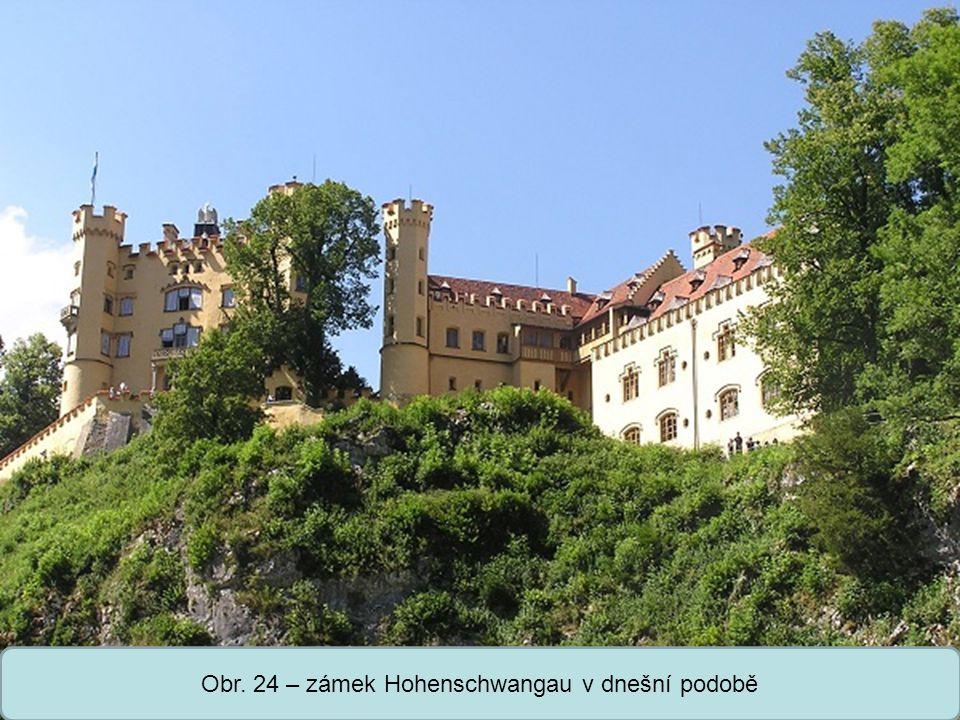 Střední škola Oselce Obr. 24 – zámek Hohenschwangau v dnešní podobě