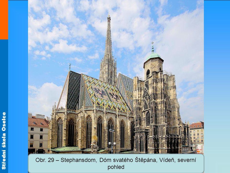 Střední škola Oselce Obr. 29 – Stephansdom, Dóm svatého Štěpána, Vídeň, severní pohled