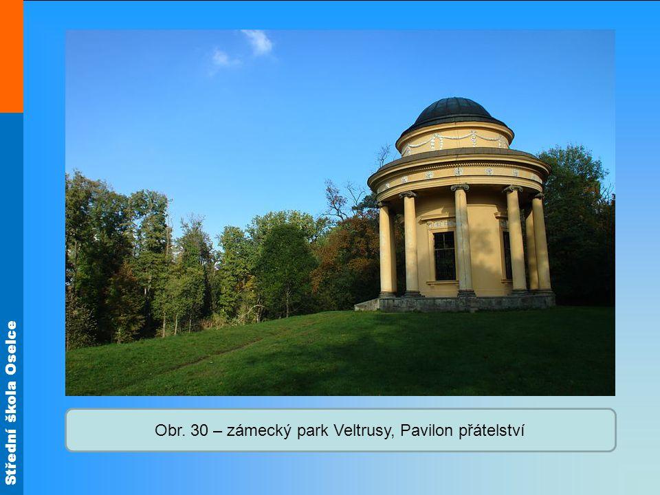 Střední škola Oselce Obr. 30 – zámecký park Veltrusy, Pavilon přátelství